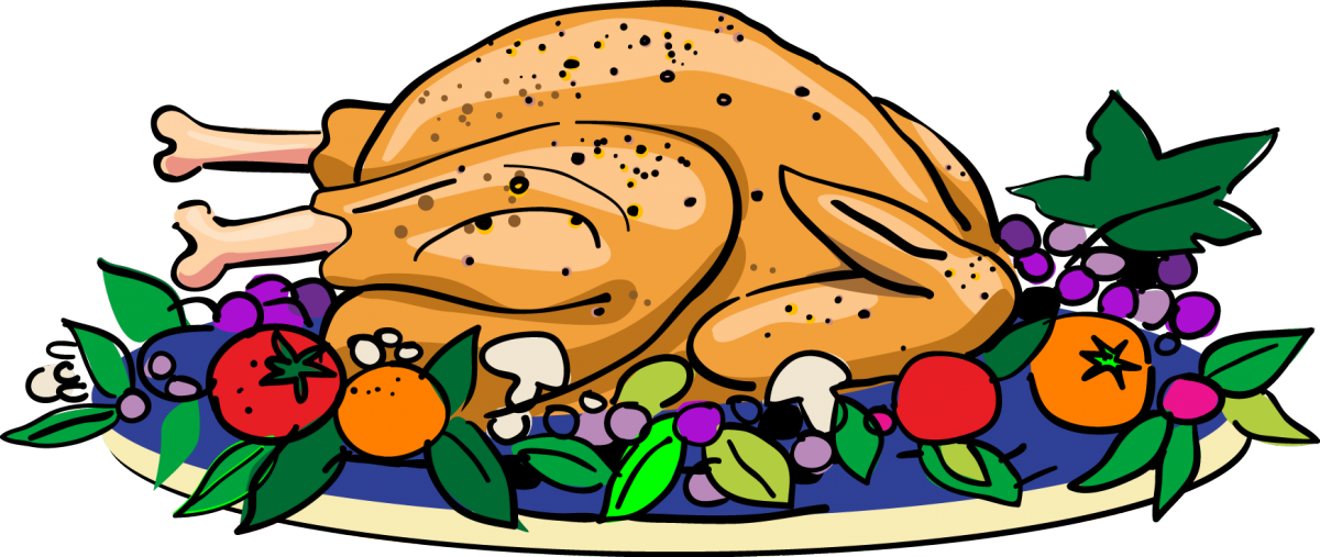 Baked turkey clipart image library download School Christmas Dinner image library download