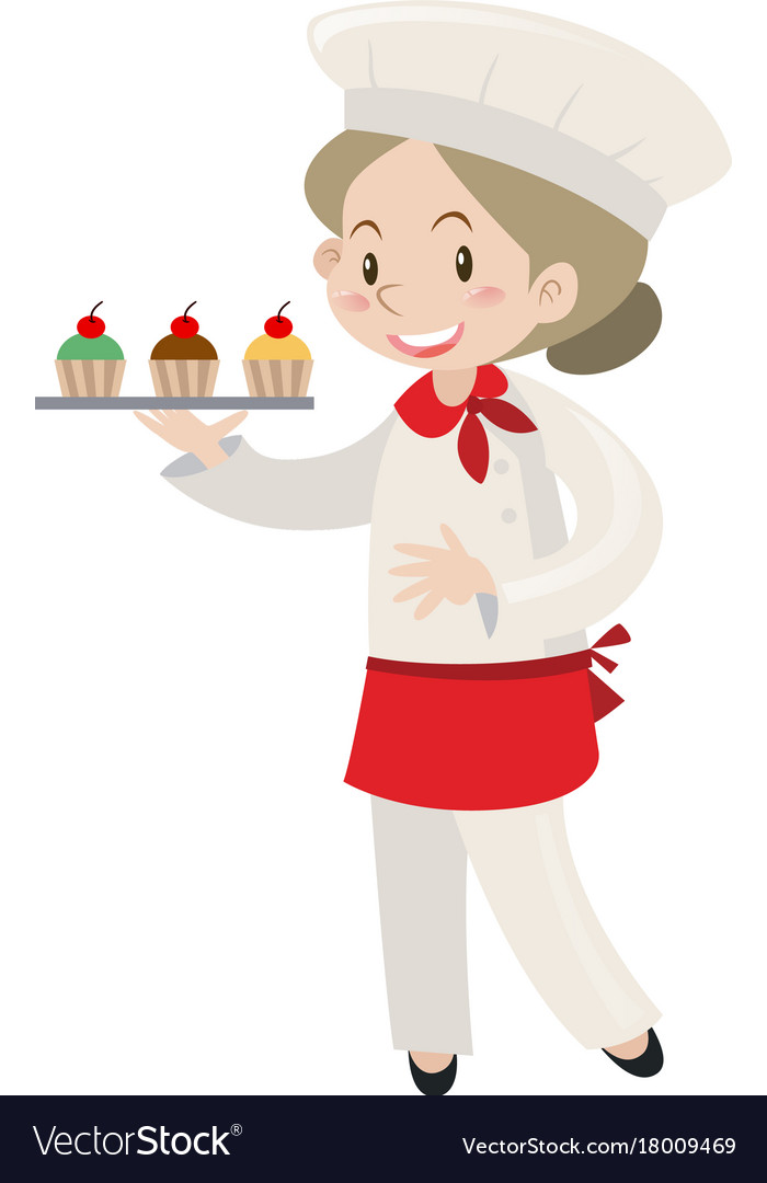 Baker sitting down clipart vector royalty free download Girl Baker Cupcake Clipart Free & Free Clip Art Images #23442 ... vector royalty free download