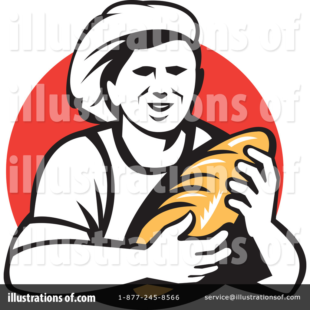 Baker sitting down clipart clip black and white Baker Clipart #1202053 - Illustration by patrimonio clip black and white