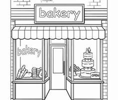 Bakery black and white clipart clip free library Bakery shop clipart black and white 1 » Clipart Portal clip free library