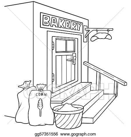 Bakery black and white clipart picture free Vector Stock - Bakery. Clipart Illustration gg57351556 - GoGraph picture free