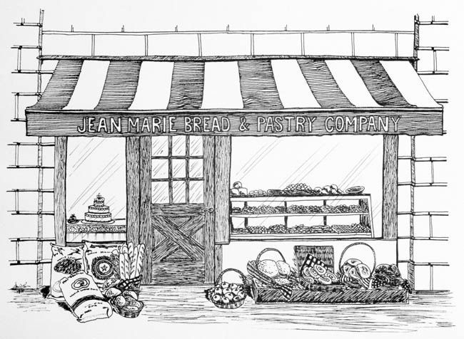 Bakery shop display clipart black and white vector freeuse stock line drawings of shop fronts - Google Search | Sulu boya | Shop ... vector freeuse stock