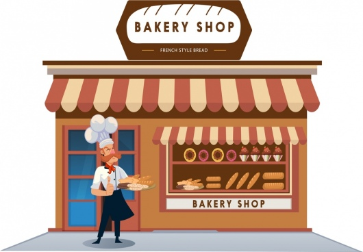 Bakery shop display clipart black and white svg free stock Bakery free vector download (248 Free vector) for commercial use ... svg free stock