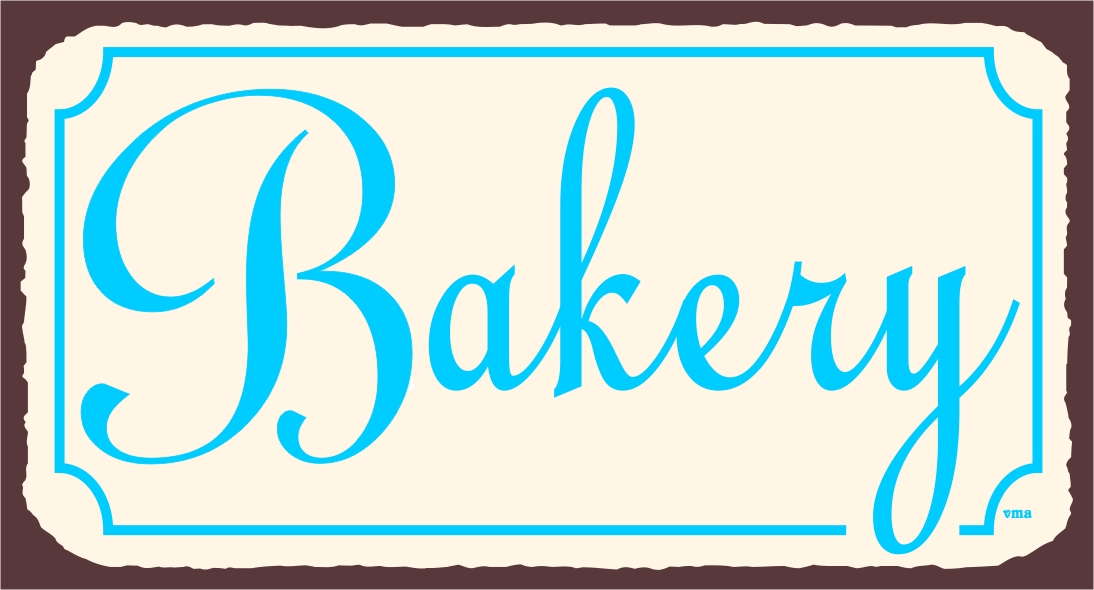 Bakery sign clipart jpg black and white stock Vintage Bakery Signs | Bakery Wall Decor | Retro Bakery Tin Signs ... jpg black and white stock