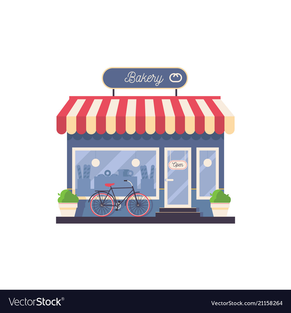 Bakery storefront clipart png freeuse Isolated on white bakery shop storefront png freeuse
