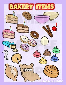Baking and pastry clipart graphic freeuse stock Bakery pastry clip art set graphic freeuse stock