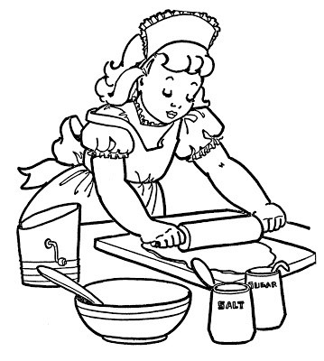 Baking black and white clipart free download Baking clipart black and white » Clipart Portal free download