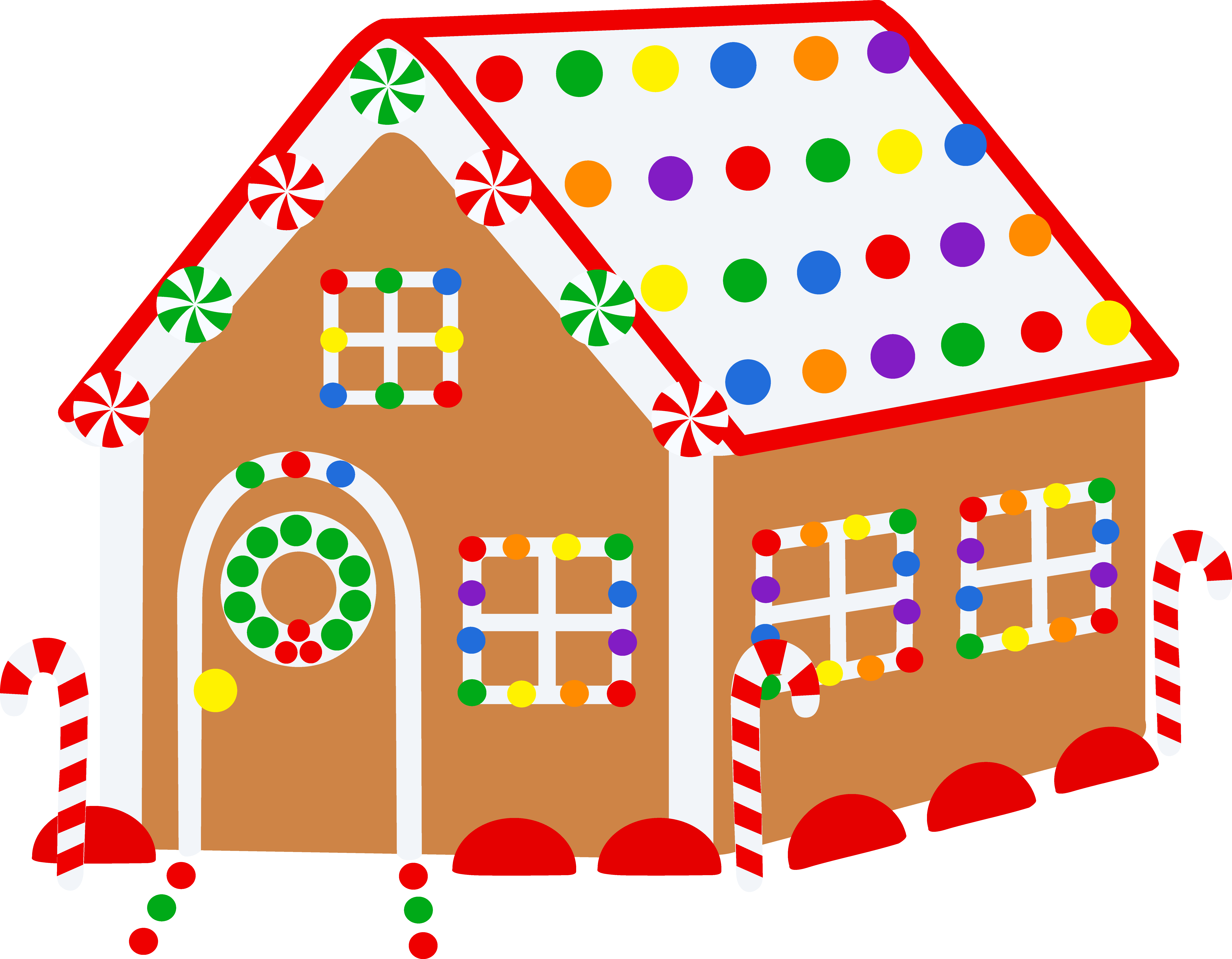 Gingerbread house clipart free svg free stock Gingerbread clipart sweet house ~ Frames ~ Illustrations ~ HD images ... svg free stock