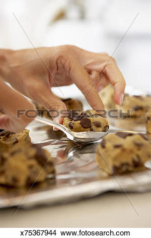 Baking sheet food clipart picture Stock Photo of Putting cookie dough on baking sheet x75367944 ... picture
