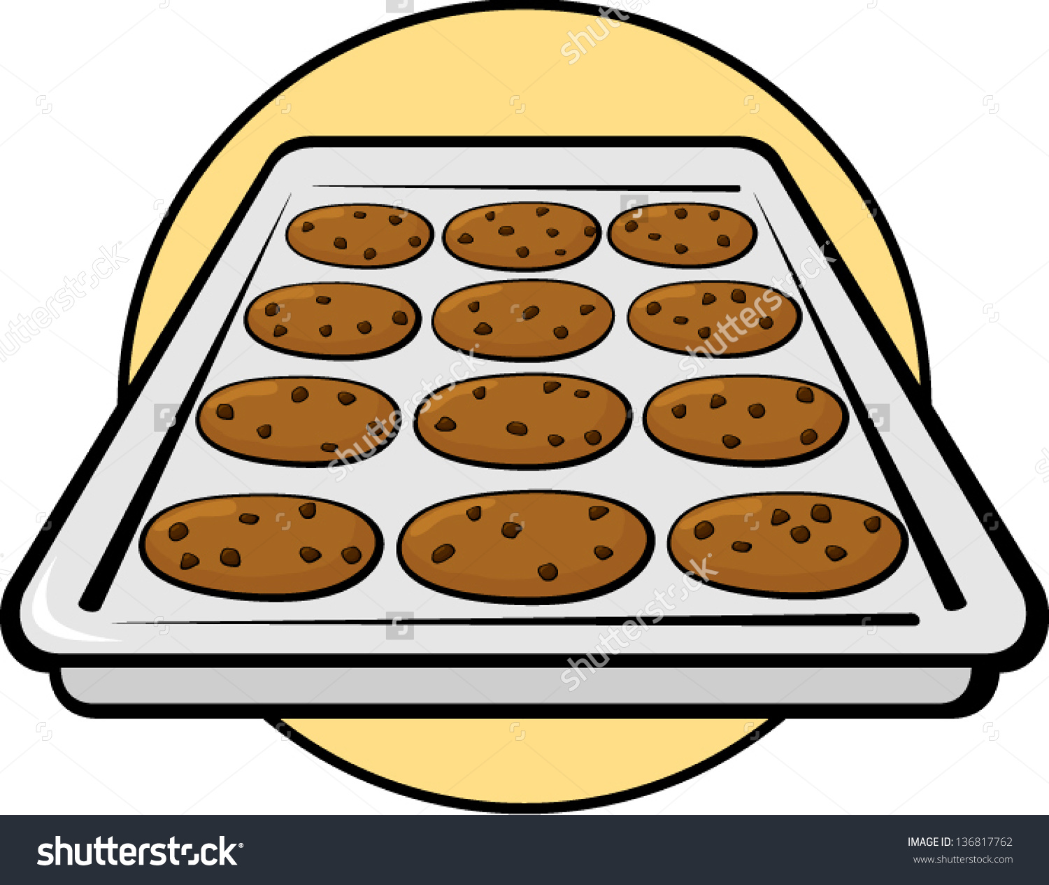 Baking sheet food clipart. Clipartfest cookies in pan