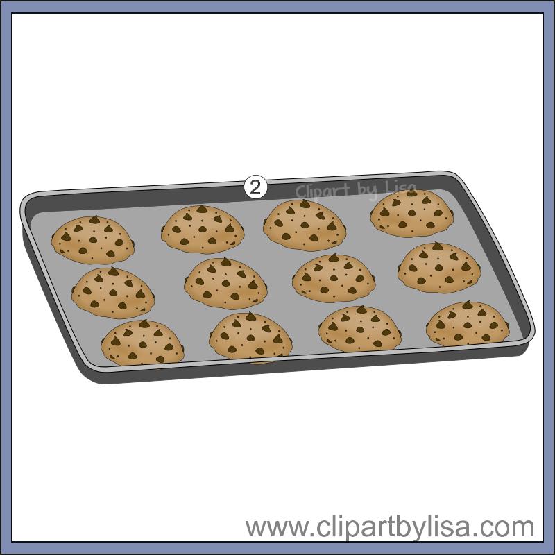 Clipartfox cookiesclipartsm . Baking sheet food clipart