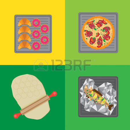 Baking sheet food clipart.  stock illustrations cliparts