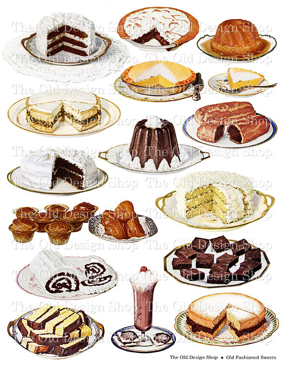 Baking sheet food clipart. Clipartfox old fashioned sweets