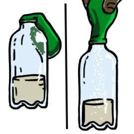 Baking soda and vinegar clipart stock Learn how to blow up a balloon with vinegar and baking soda! It\'s ... stock