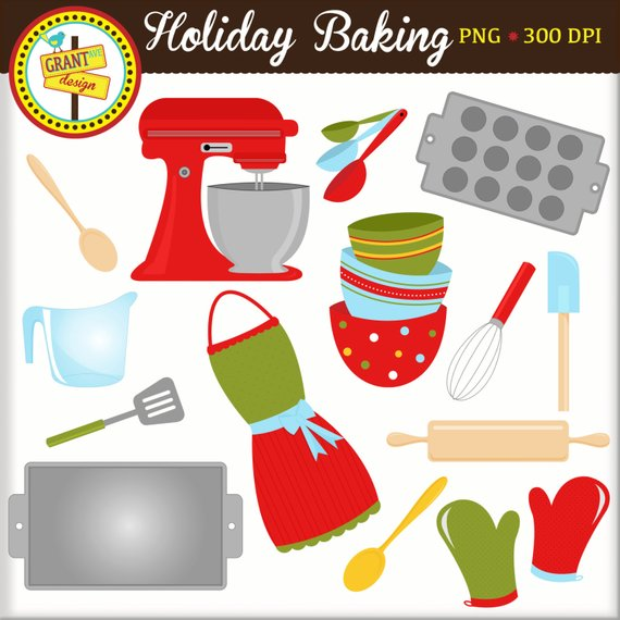 Baking tools and equipment clipart png free download Holiday Baking Clipart - Christmas Clipart - Christmas Clip Art ... png free download