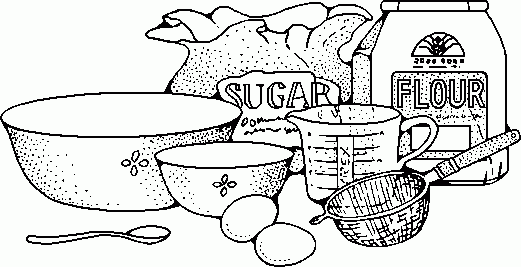 Vintage clipart baking freeuse stock Baking Clip Art Black And White | Clipar #129888 - PNG Images - PNGio freeuse stock
