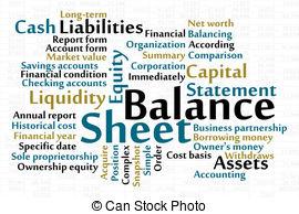 Illustrations and stock art. Balance sheet clipart