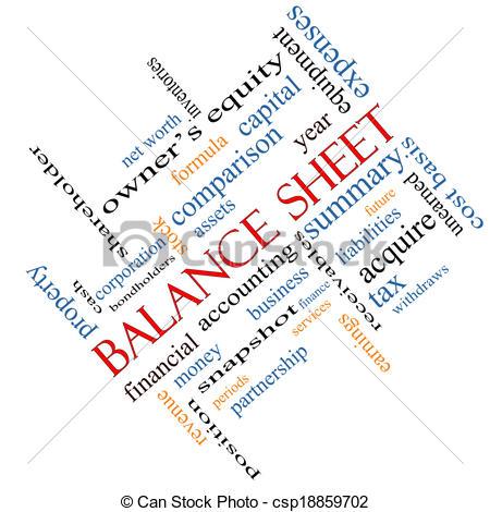 Balance sheet clipart free Stock Illustration of Balance Sheet Word Cloud Concept Angled ... free
