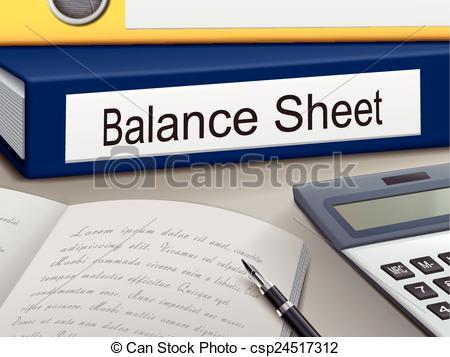 Balance sheet clipart. Clip art vector graphics