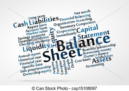 Clip art vector graphics. Balance sheet clipart