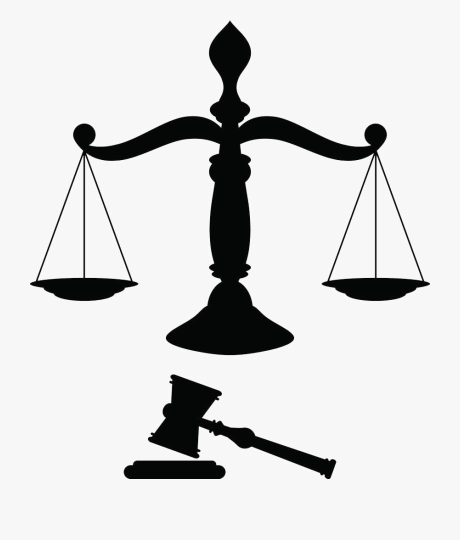 Balanza clipart svg free Justice Clip Art - Silueta Balanza De La Justicia #1517505 - Free ... svg free