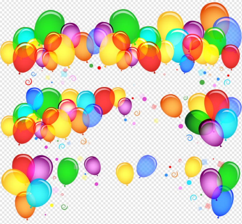 Balao aniversario clipart png free library Clipart balões de aniversário coloridos-Templates e Temas png free library