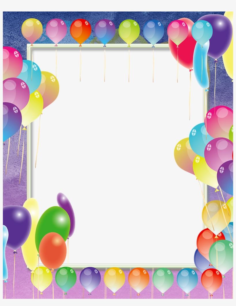Balao aniversario clipart vector royalty free Download Moldura De Aniversario Com Balões Png Clipart - Balloons ... vector royalty free