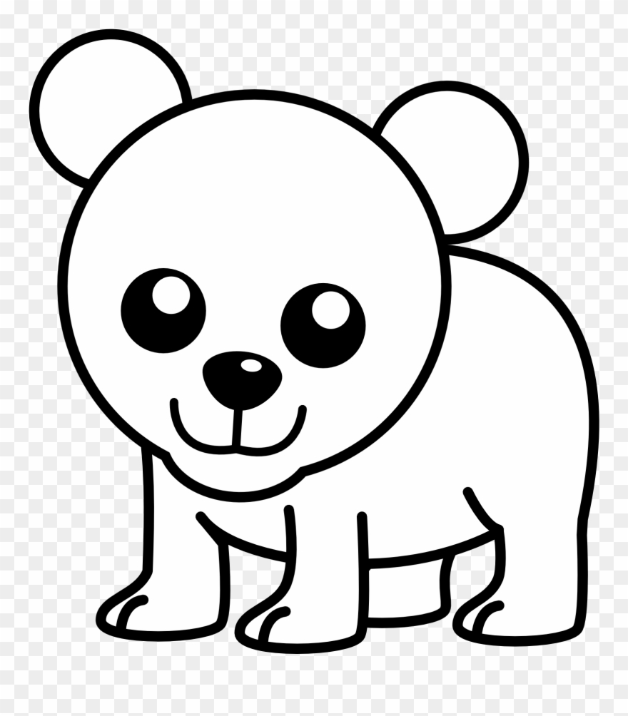 Balck bear drawing clipart png transparent Xmas Stuff For Christmas Polar Bear Clipart - Draw Cute Polar Bear ... png transparent