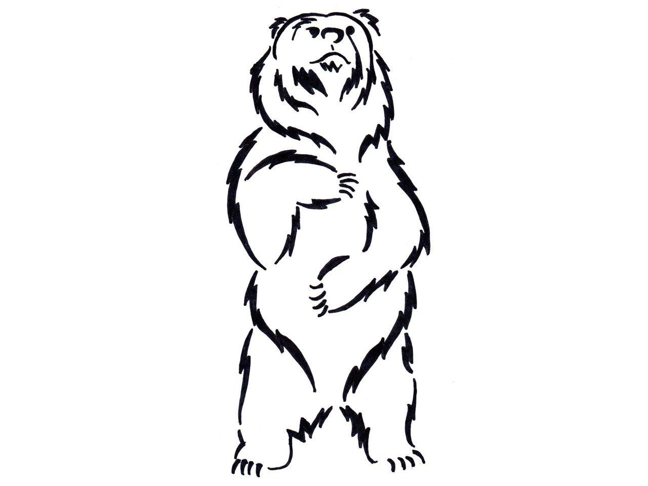 Balck bear drawing clipart clip download Standing Black Bear Drawing | Clipart Panda - Free Clipart Images ... clip download