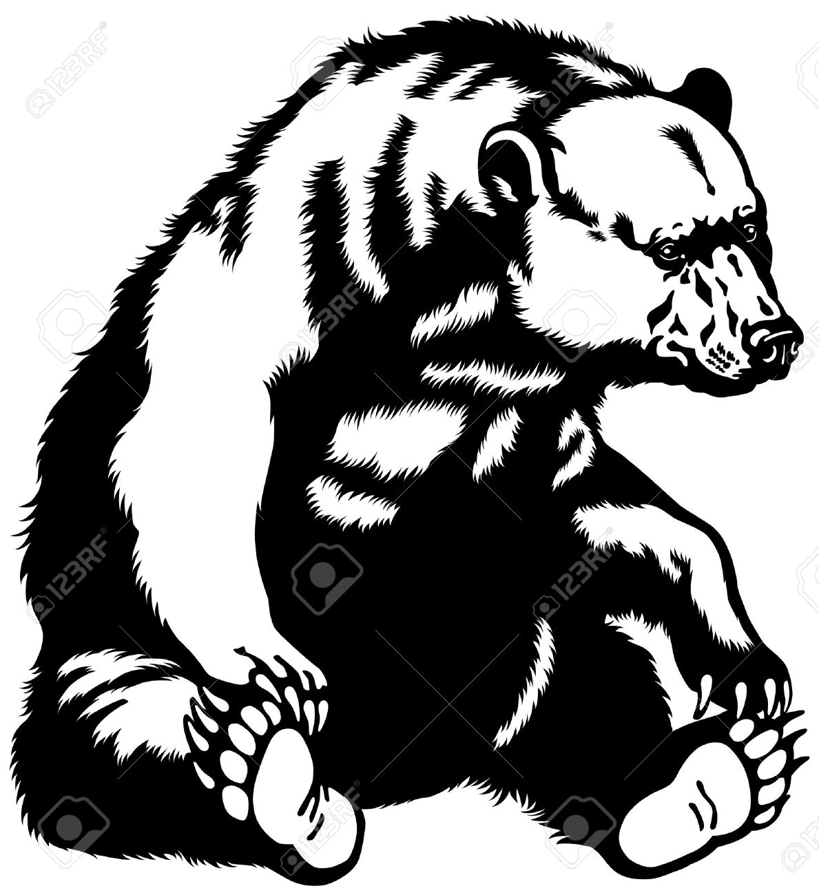 Balck bear drawing clipart clipart royalty free Bear black white clipart black bear collection black drawing ... clipart royalty free