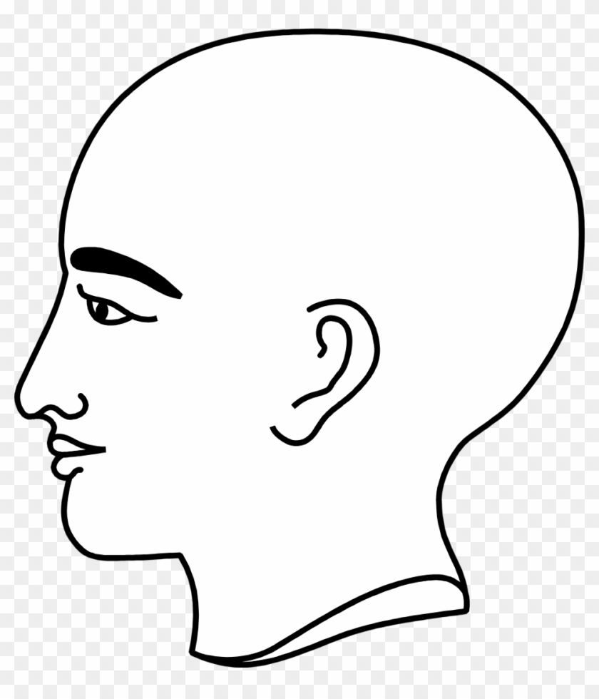 Bald clipart svg black and white library Bald Clipart Bold Man - Person\'s Profile, HD Png Download - 958x1073 ... svg black and white library