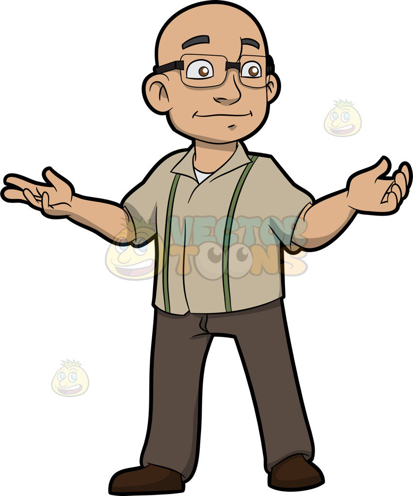 Bald clipart vector freeuse library A Bald Man With Glasses Cartoon Clipart - Free Clipart vector freeuse library