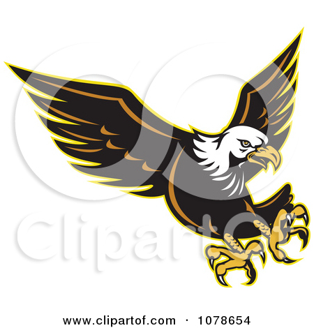 Clipart of a Retro Bald Eagle Head - Royalty Free Vector ... banner royalty free