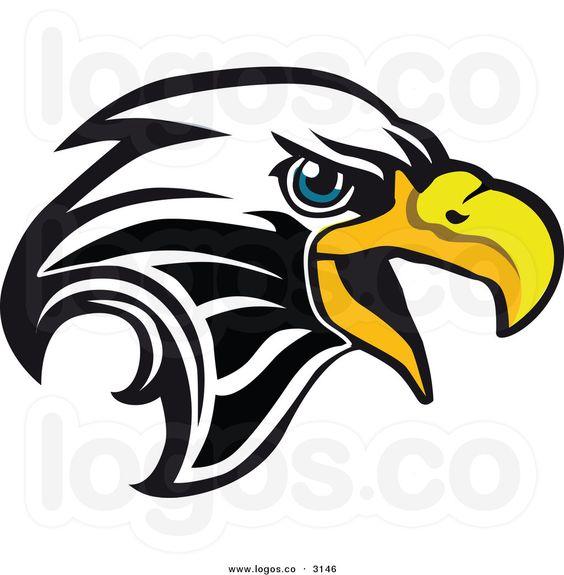 Bald eagle clipart logo png clip free stock Eagle Company Logo | Royalty Free Vector of a Bald Eagle Head Logo ... clip free stock