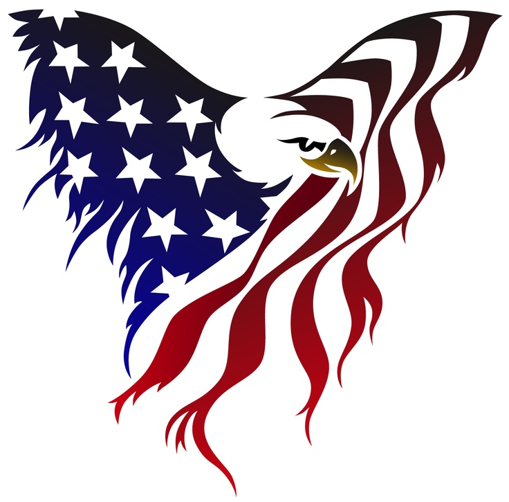 Bald eagle clipart with american flag png library download Free Pictures Of Eagles With American Flag, Download Free Clip Art ... png library download