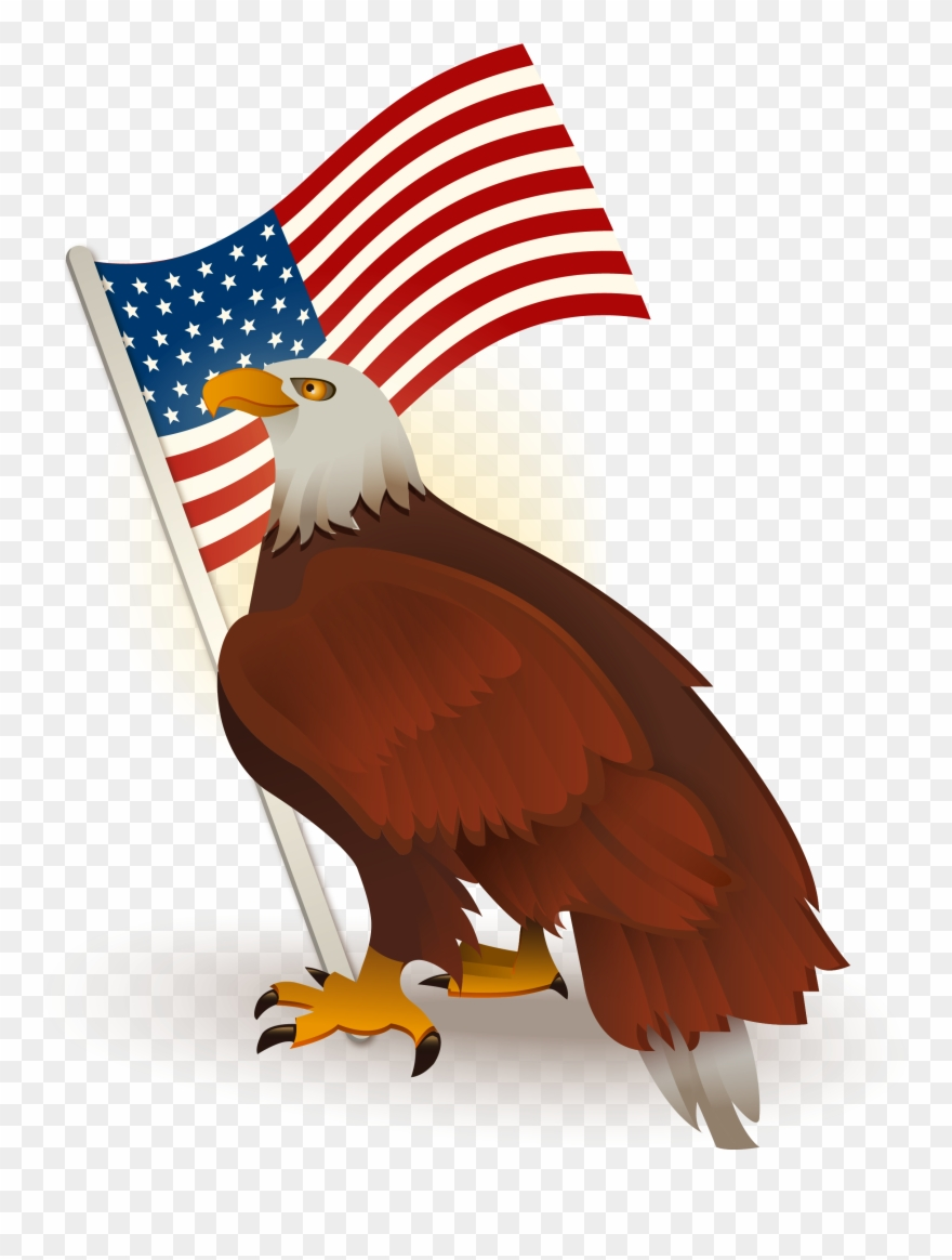 Bald eagle clipart with american flag clipart library library Bald Of The Clip Art - Transparent Eagle American Flag - Png ... clipart library library
