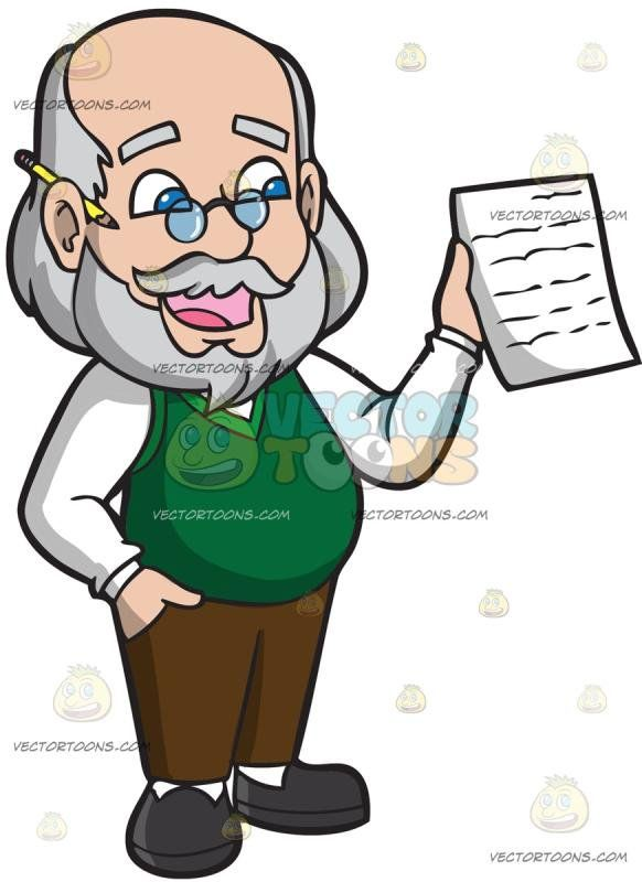 Bald head with glasses and mustache clipart graphic transparent library A Male Writing Teacher: An old man with balding gray hair mustache ... graphic transparent library