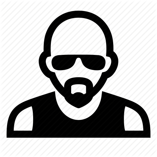 Bald head with glasses and mustache clipart image download \'People Diversity Portraits\' by Olga Zaurova image download