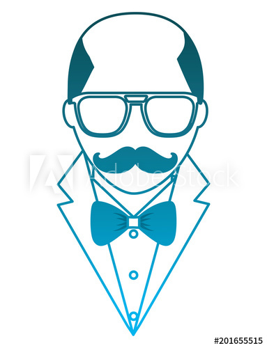 Bald head with glasses and mustache clipart clip royalty free download hipster bald man mustache and eyeglasses elegant suit vector ... clip royalty free download