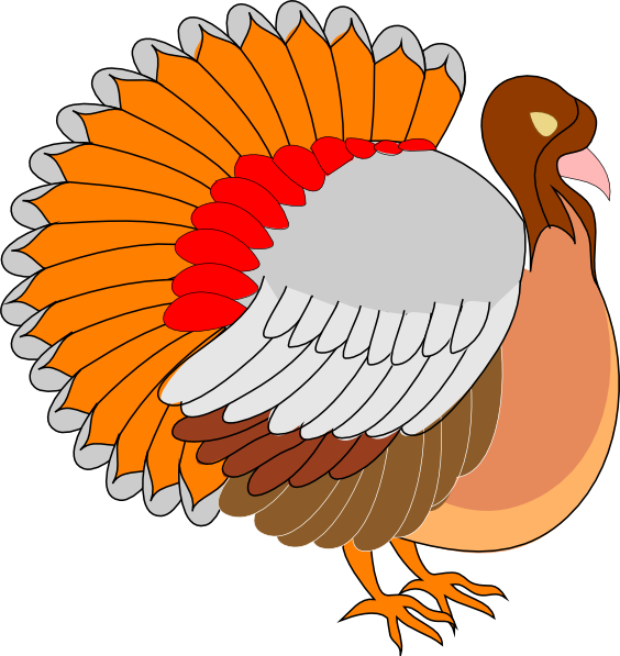 Turkey Side View Clip Art at Clker.com - vector clip art online ... vector free download