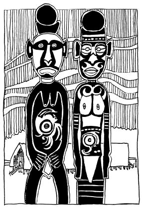 Mac Ruff Sketch Books of Papua New Guinea | Gulf clip transparent