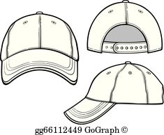 White baseball hat clipart graphic Baseball Cap Clip Art - Royalty Free - GoGraph graphic