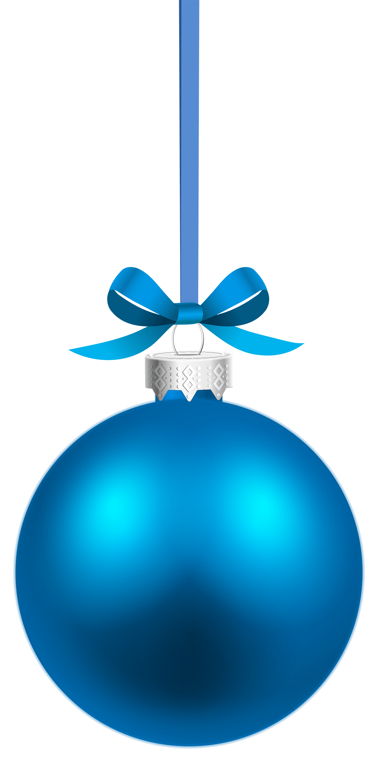 Christmas clipart blue png library download Blue Hanging Christmas Ball PNG Clipart - Best WEB Clipart png library download