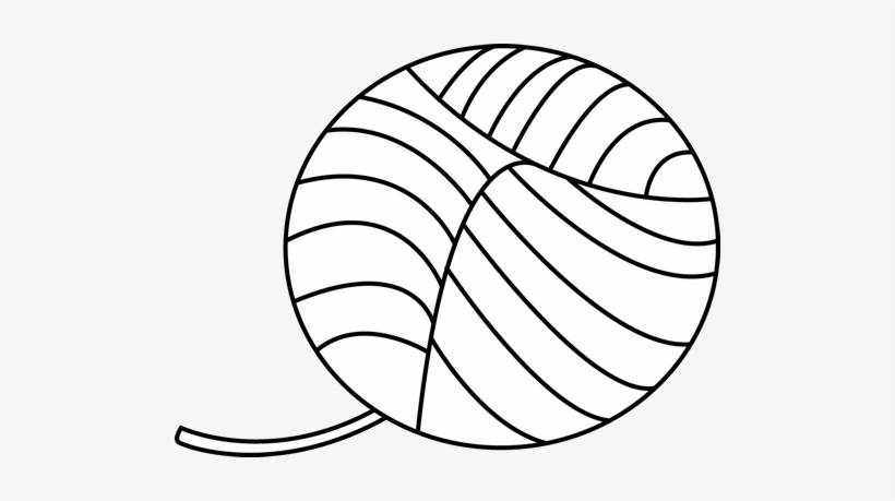 Ball of yarn black and white clipart image freeuse stock Yarn Ball Png - Yarn Clipart Black And White - Free Transparent PNG ... image freeuse stock