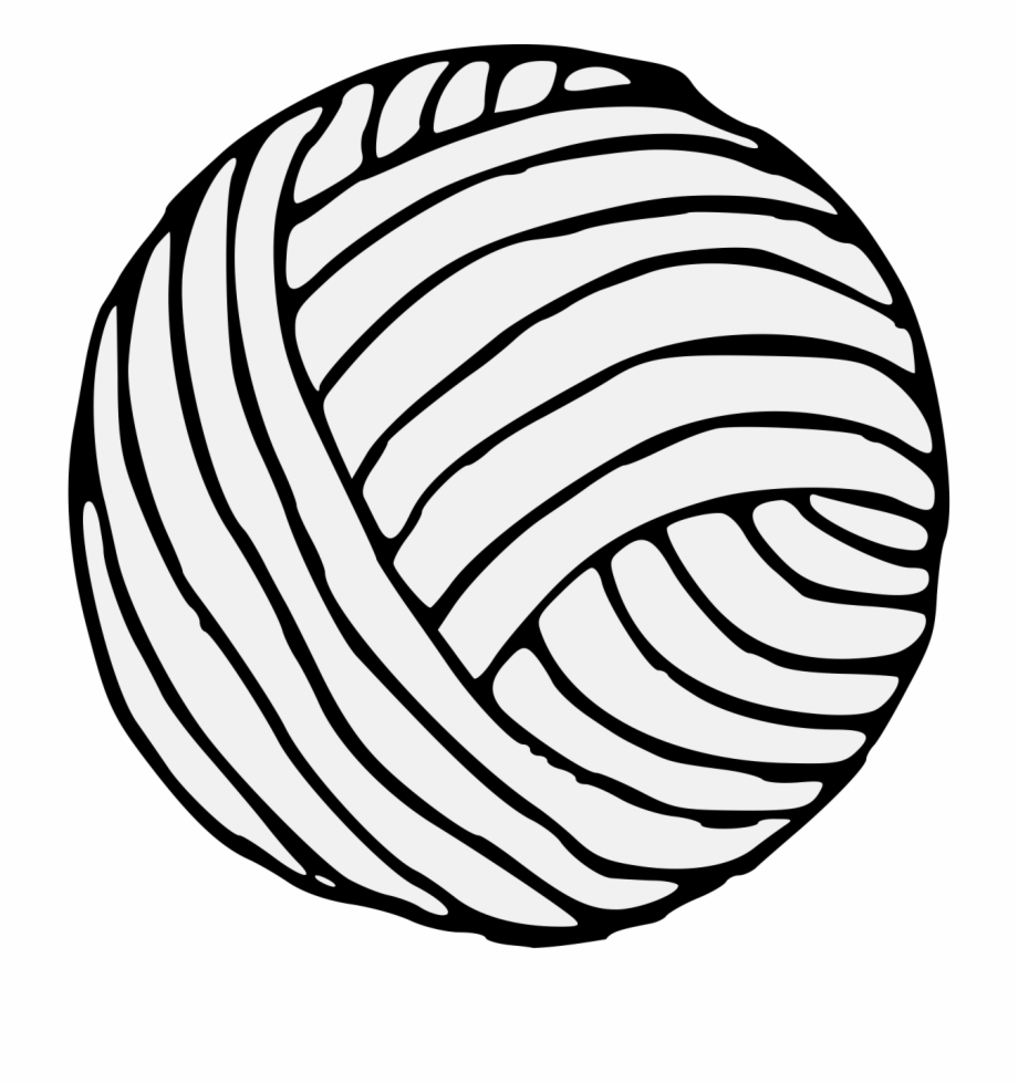 Ball of yarn black and white clipart graphic royalty free stock Ball Of Yarn - Ball Of Yarn Drawing Easy, Transparent Png Download ... graphic royalty free stock