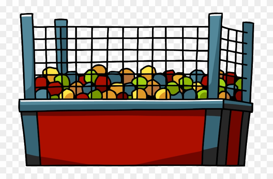 Ball pit clipart black and white image free Biting Lip Clipart - Ball Pit With Net - Png Download (#769610 ... image free