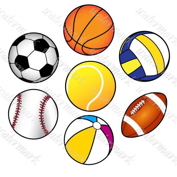Ball sport clipart svg download Ball Clipart Sport Clipart Digital Sport от SquirrelArtDesign | Etsy ... svg download