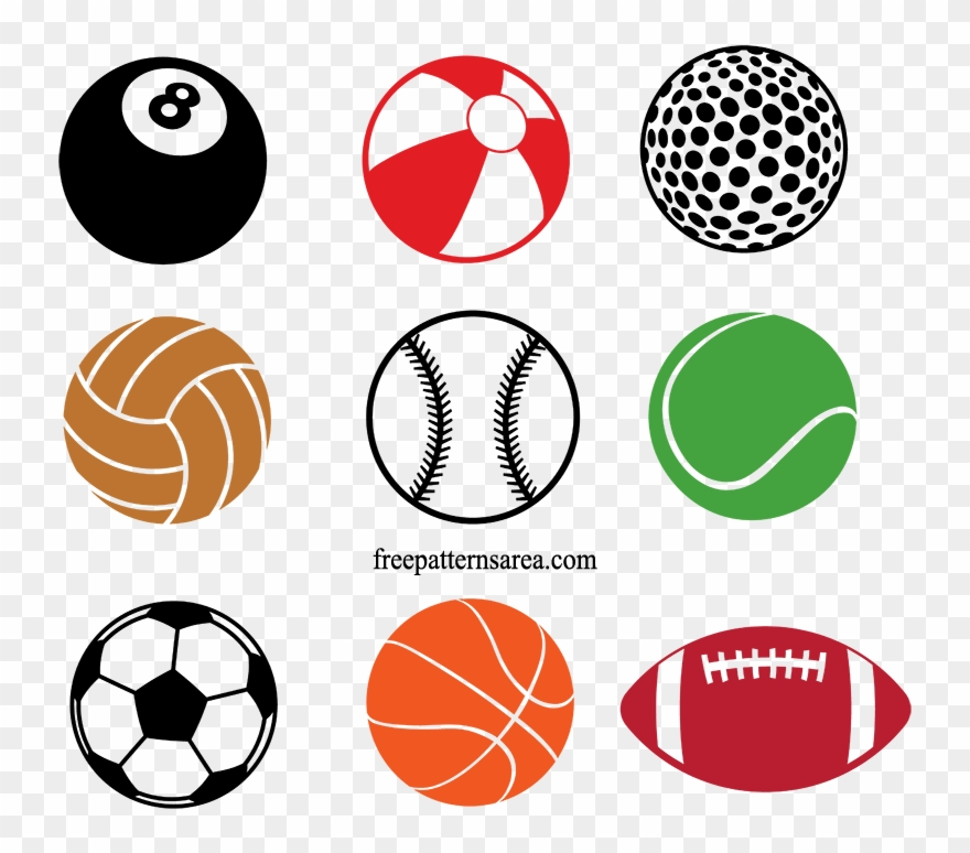 Clipart sports equipment graphic Sports Equipment Clipart Different Ball - Sports Ball Vector Png ... graphic