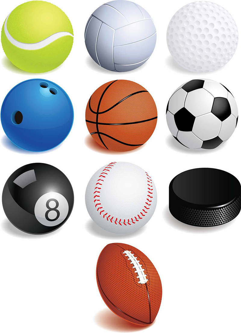 Ball sport clipart graphic free stock Free Pictures Of Sports Balls, Download Free Clip Art, Free Clip Art ... graphic free stock