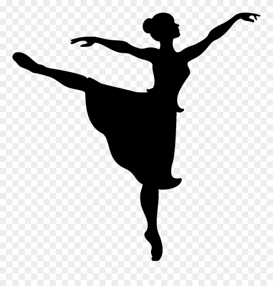 Ballerina clipart black and white clip free stock Free Ballet Clip Art Ballerina - Black And White Dancer Clipart ... clip free stock
